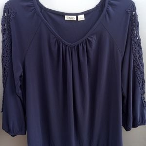 Cato L/S Lace Sleeves Tunic  size L